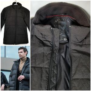Mexx mens winter puffy jacket dark grey